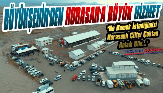 Büyükşehir Horasan Çiftçisini Unutmadı