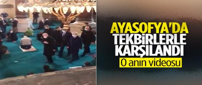 Cumhurbaşkanı Erdoğan'ın Ayasofya Camii'ne Giriş Yaptığı An