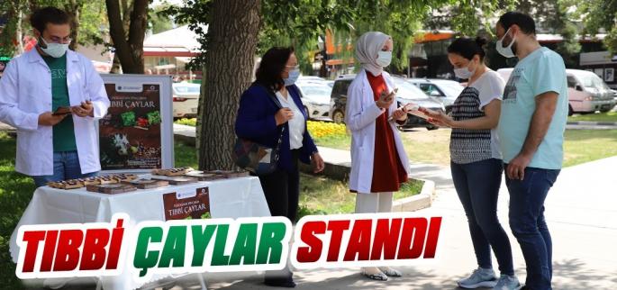 Erzurum'da Tıbbi Çaylar Standı