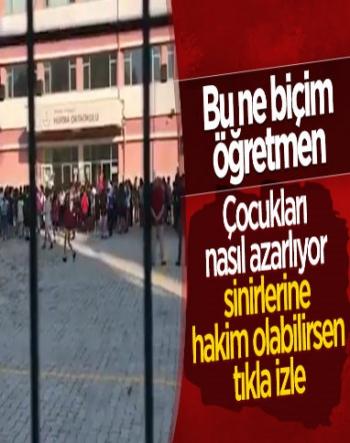 Antalya'da Öğretmen, Öğrencileri Azarladı