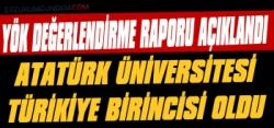 Atatürk Üniversitesi Türkiye Birincisi Oldu