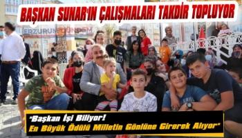 Başkan Sunar'ın Çalışmaları Tam Not Aldı