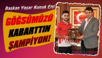 Başkan Yaşar Şampiyona Altın Hediye Etti