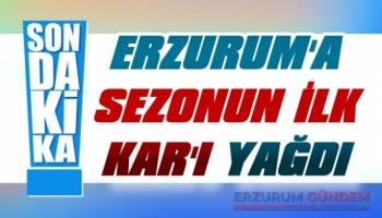 Erzurum'a Sezonun İlk Kar'ı Yağdı