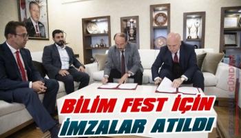 Erzurum'da Bilim Fest İçin İmzalar Atıldı