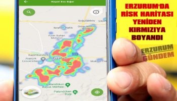 Erzurum'da Koronavirüs Risk Haritası Kırmızıya Döndü