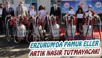 Erzurum'da Pamuk Eller Artık Nasır Tutmayacak