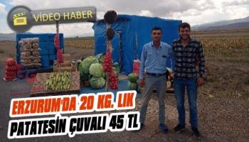 Erzurum'da Patatesin Fiyatı Belli Oldu