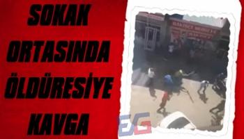 Sokak Ortasında Kan Donduran Kavga!